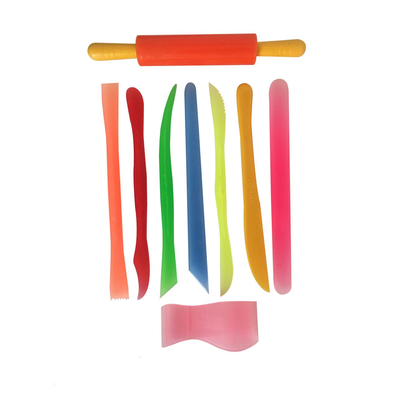 ابزار سفالگری نفیس گالری مدل پلاستیکی