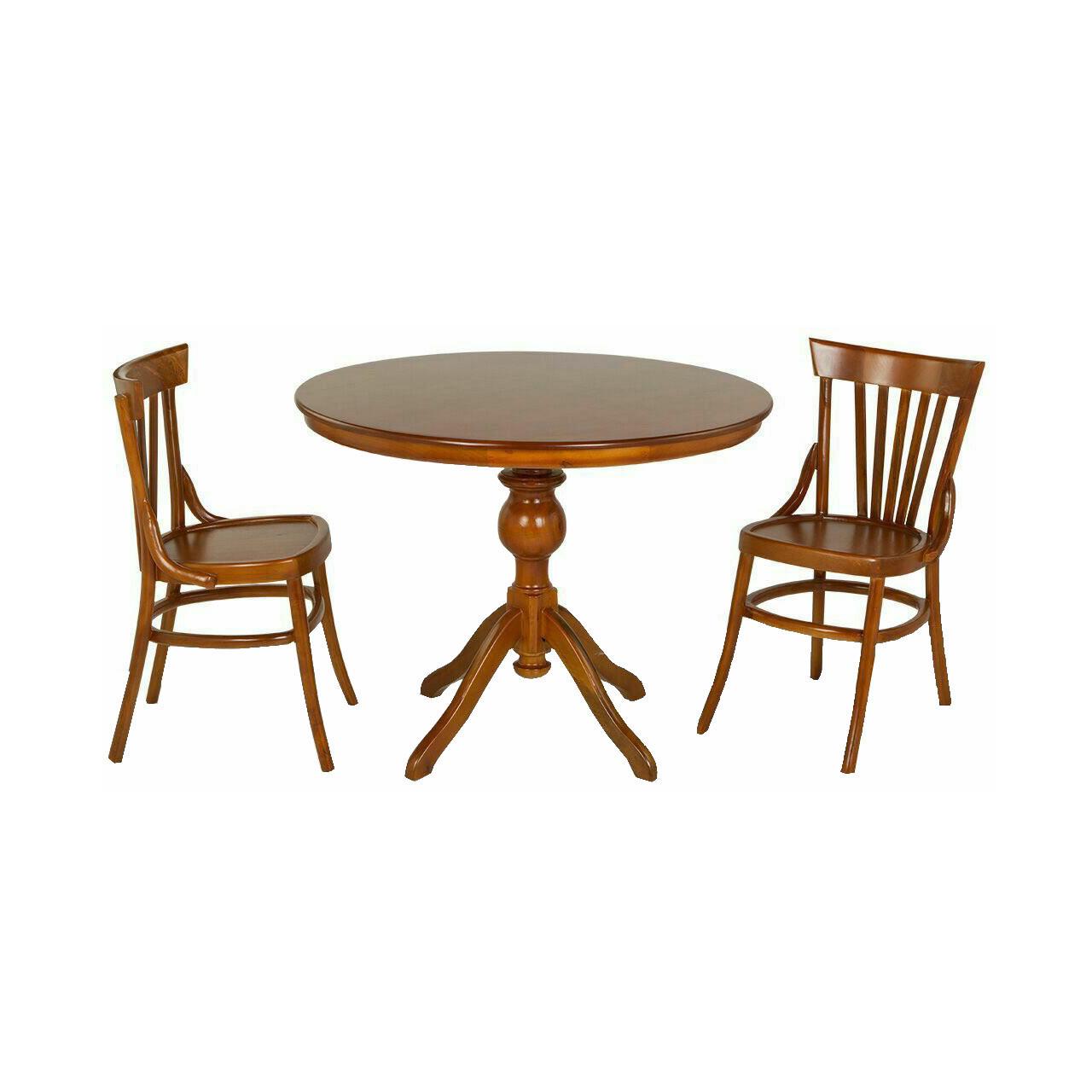 میز و صندلی ناهارخوری اسپرسان چوب ۲ نفره مدل لهستانی کدm03