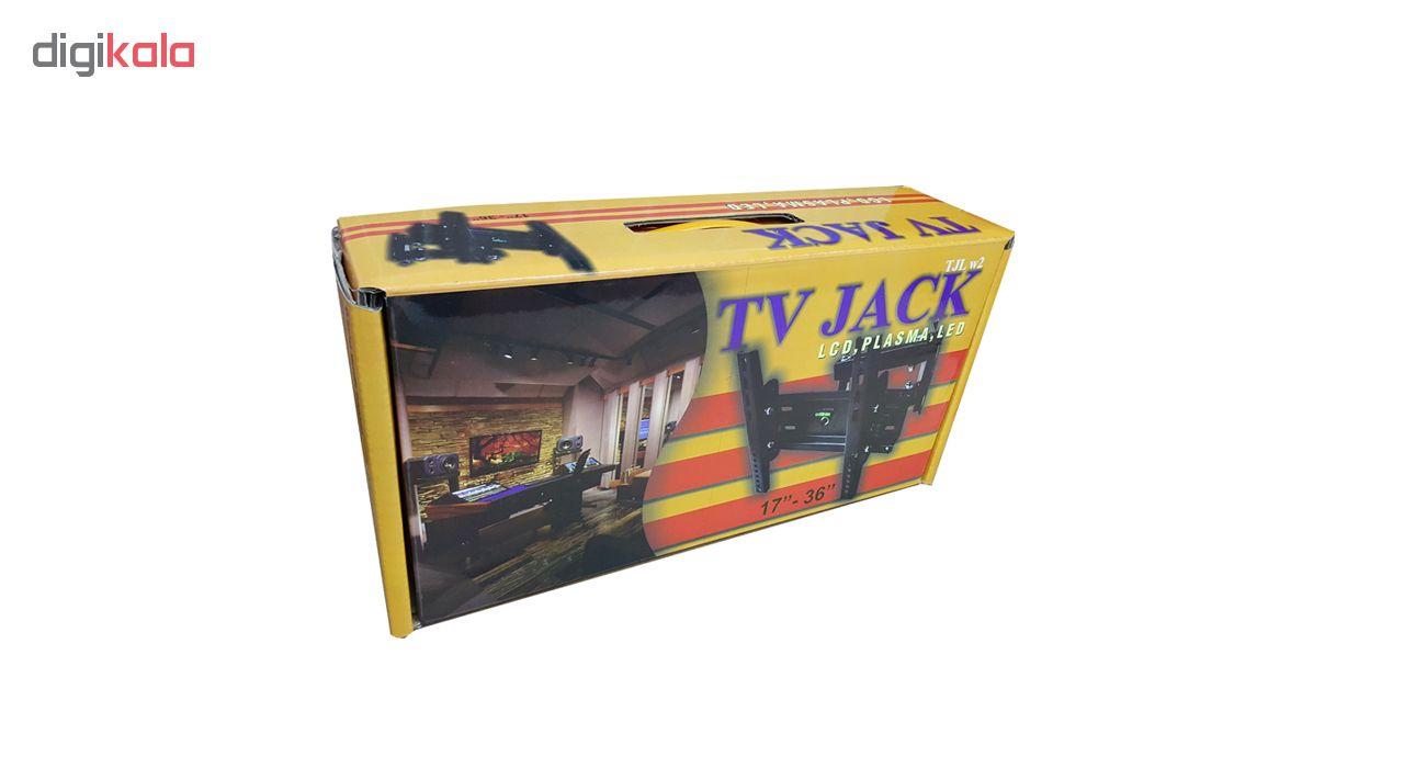 پایه دیواری تلویزیون تی وی جک مدل W2 مناسب برای تلوزیون 17 تا 42 اینچ