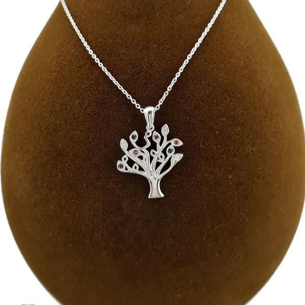 گردنبند نقره طرح درخت کد FL124