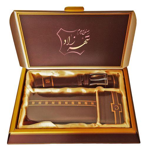 ست هدیه صنایع چرم شهرزاد کد SSM705