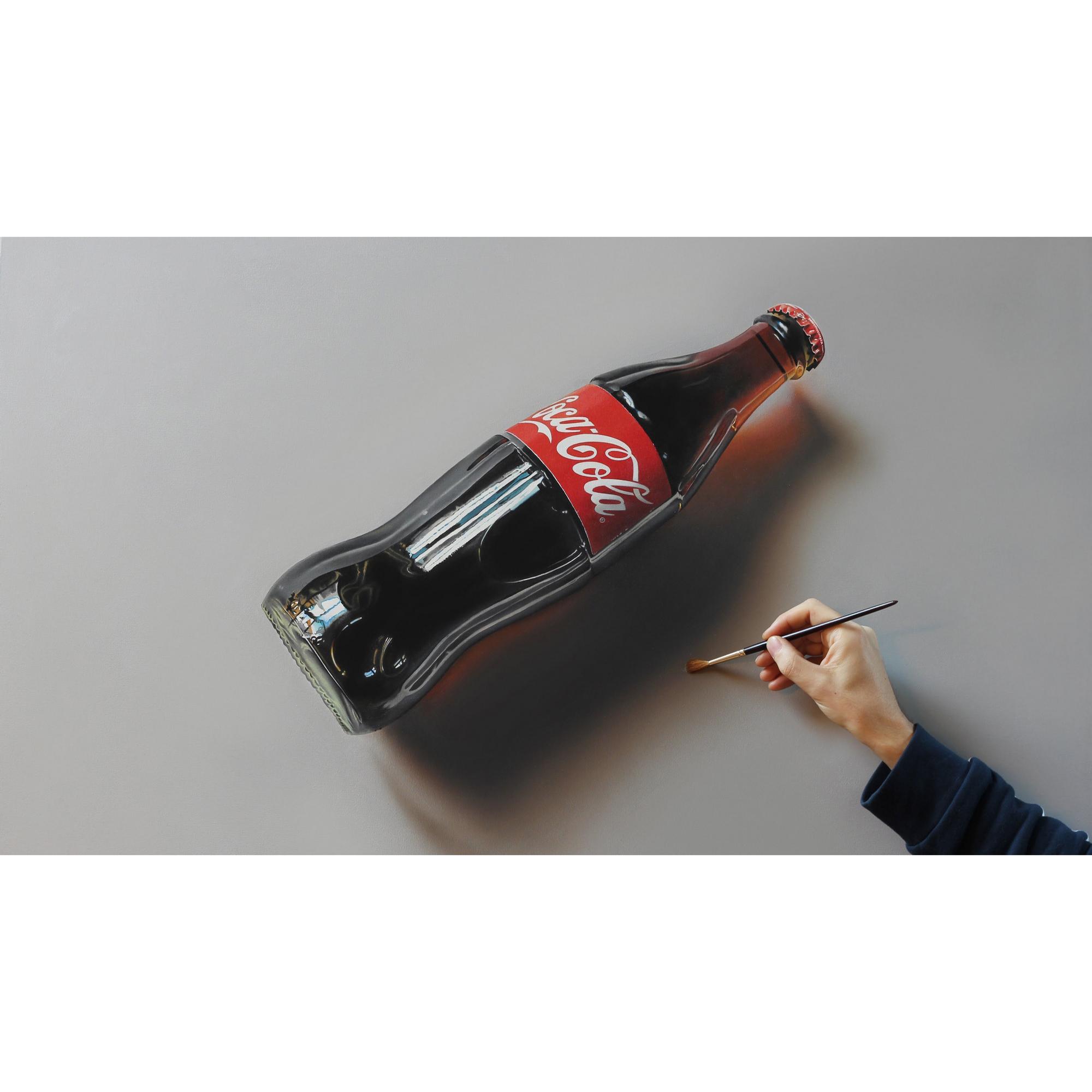 تابلو شاسی طرح نقاشی سه بعدی نوشابه کد 0195