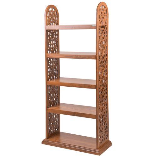 کتابخانه دستساز صنایع چوب ساج طرح آذین کد 629