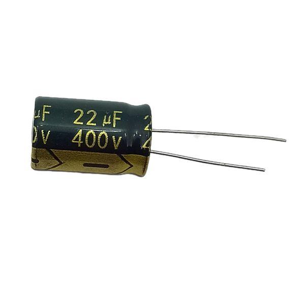 خازن ۲۲ میکروفاراد ۴۰۰ ولت هینکدز مدل bkn1 بسته ۵ عددی