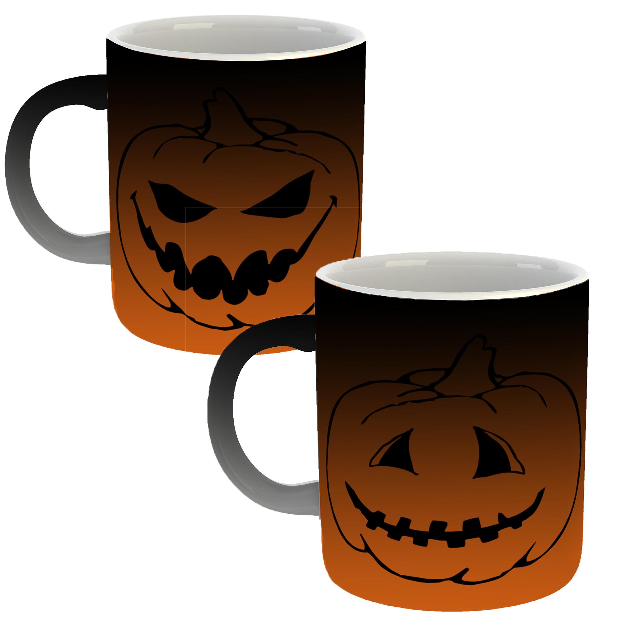 ماگ حرارتی طرح هالووین 314 بسته دو عددی