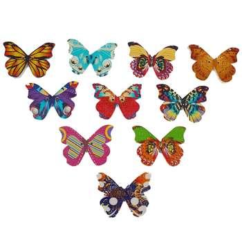 دکمه فانتزی مدل پروانه ی بهاری بسته 12 عددی