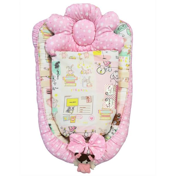 سرویس 3 تکه خواب نوزادی تاپ دوزانی مدل Baby2