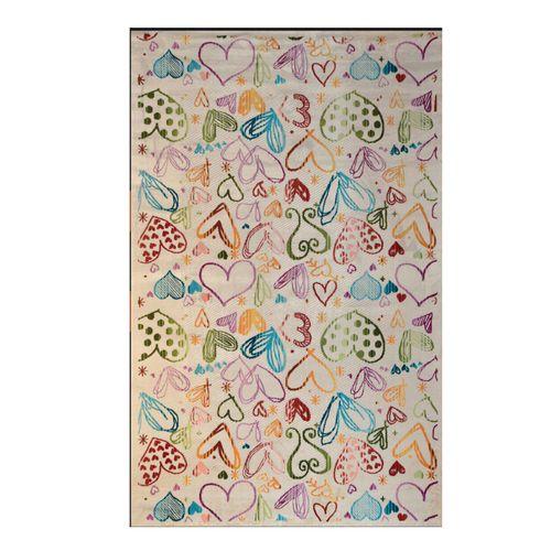فرش ماشینی طرح شنل کد 1712 زمینه کرم
