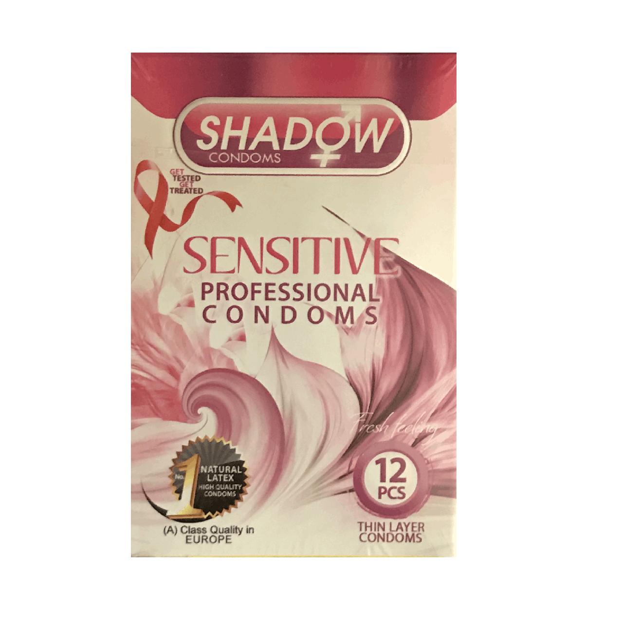 قیمت کاندوم شادو مدل Sensitive بسته 12 عددی