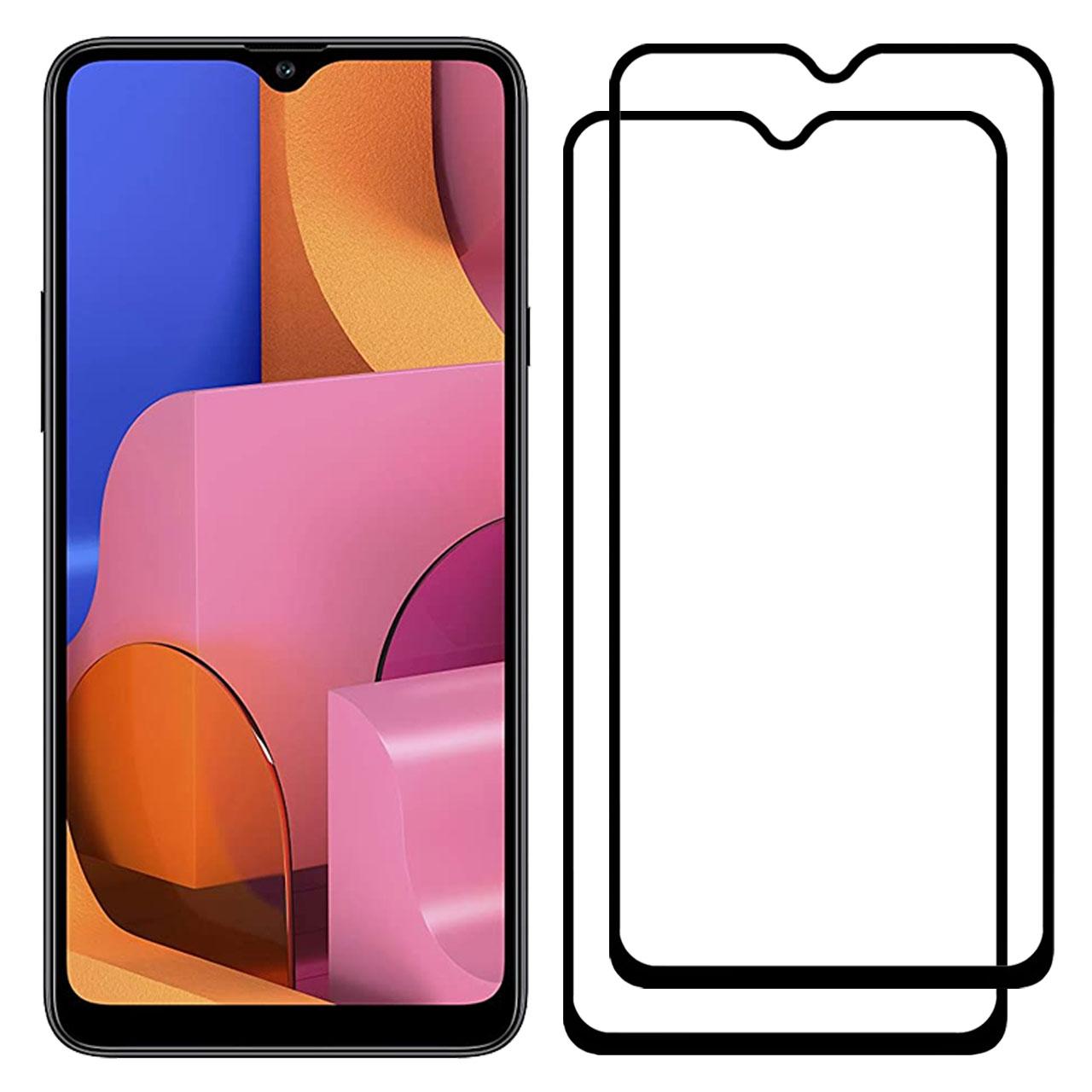 محافظ صفحه نمایش مدل FCG مناسب برای گوشی موبایل سامسونگ Galaxy A20s بسته دو عددی