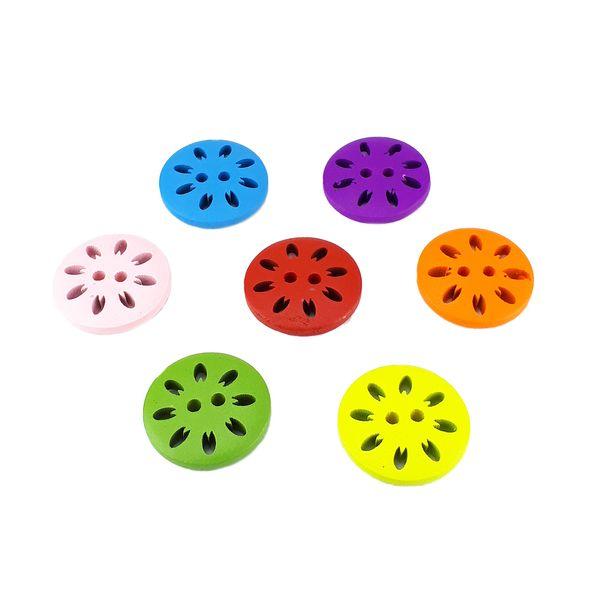 دکمه مدل چرخ رنگی بسته 14 عددی