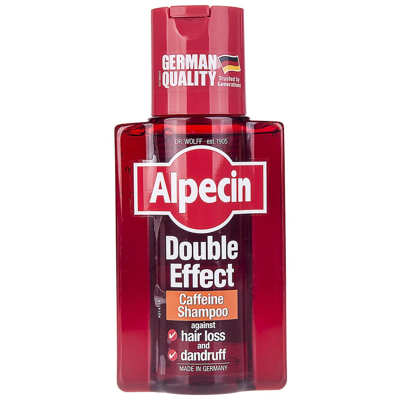 قیمت شامپو ضد شوره و تقویت کننده آلپسین مدل Double Effect Caffeine حجم 200 میلی لیتر