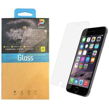 محافظ صفحه نمایش  تمام چسب شیشه ای پیکسی مدل Clear  مناسب برای گوشی اپل آیفون 6/6S پلاس