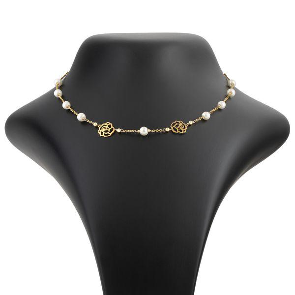 گردنبند طلا 18 عیار زنانه مدل NM13