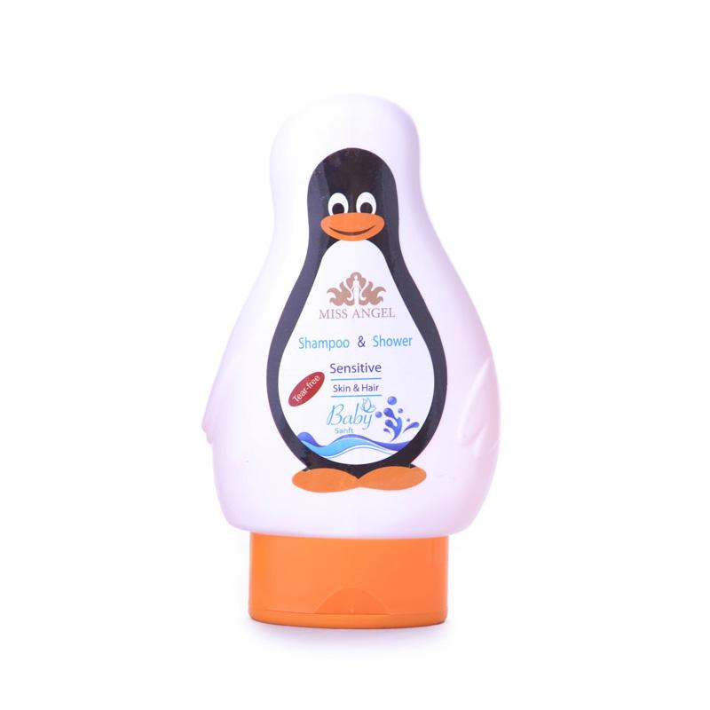 شامپو سر نوزاد میس آنژل طرح پنگوئن حجم 200 میلی لیتر