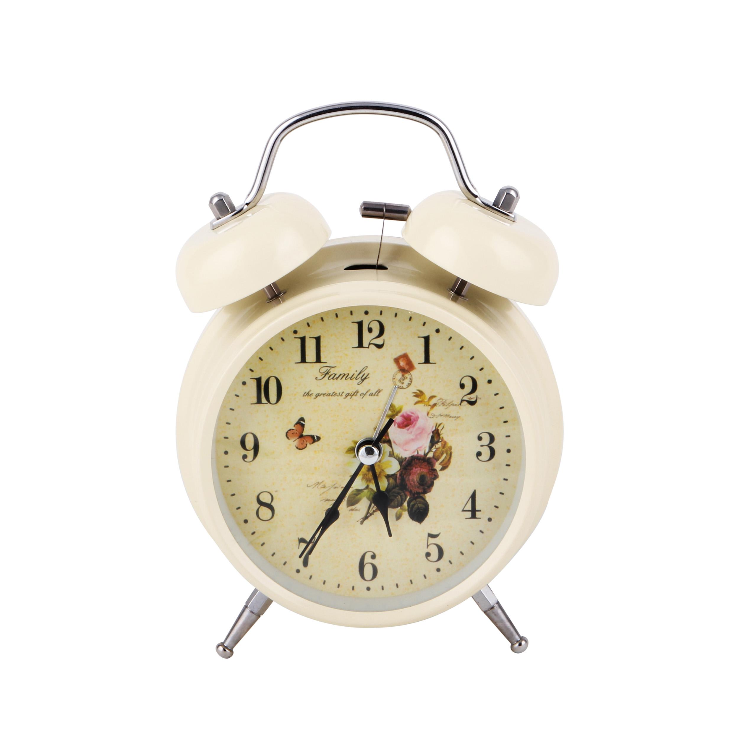 ساعت رومیزی مدل گل و پروانه