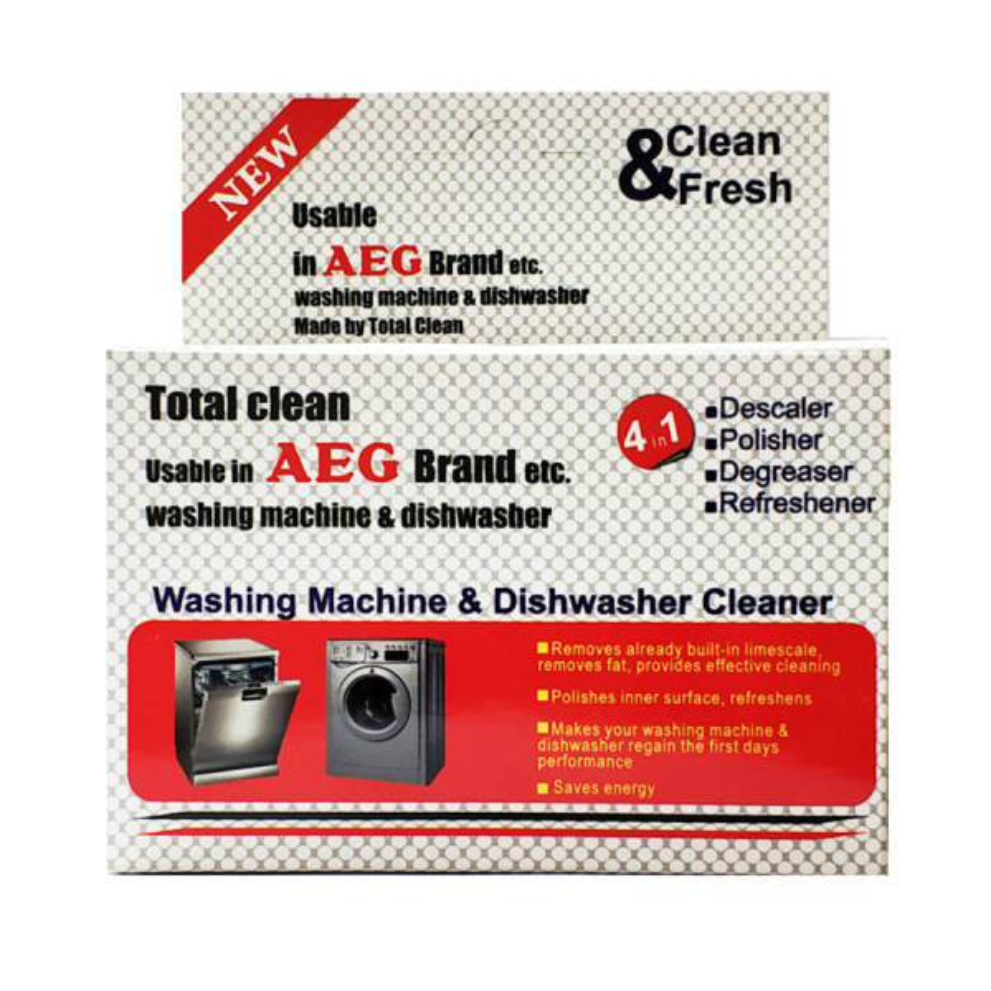 پودر جرم گیر ماشین ظرفشویی و ماشین لباسشویی آاگ حجم 200 گرم بسته 5 عددی |