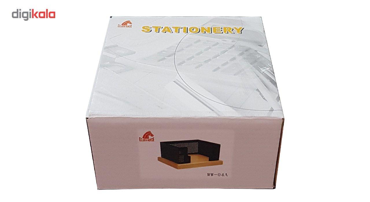 جای کاغذ یادداشت Golden horse مدل WW-04A به همراه یک بسته کاغذ 300 برگی main 1 2