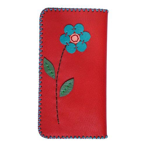 کیف پول زنانه طرح گل مدل 0034