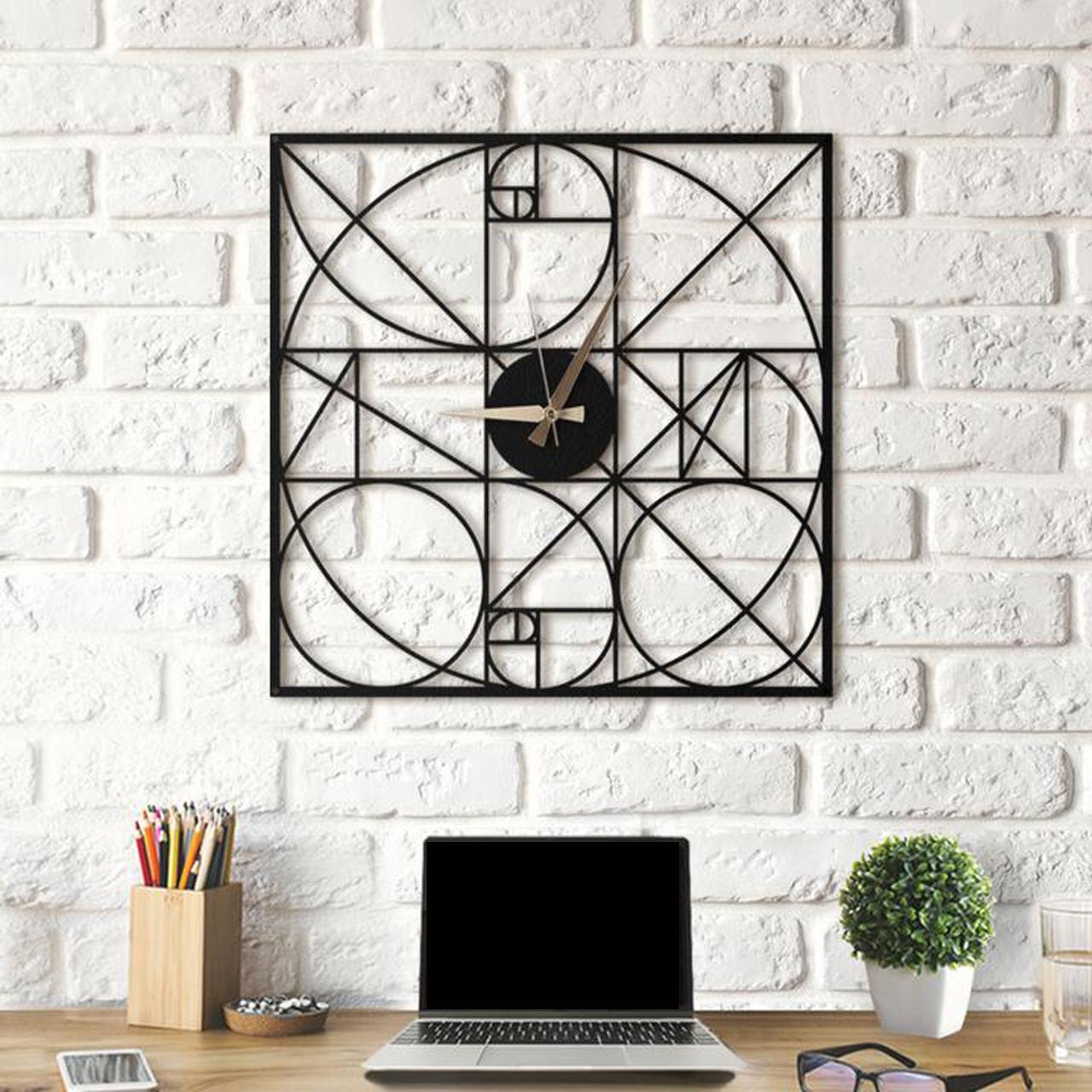 خرید ساعت دیواری آتینو طرح Fibonacci سایز L