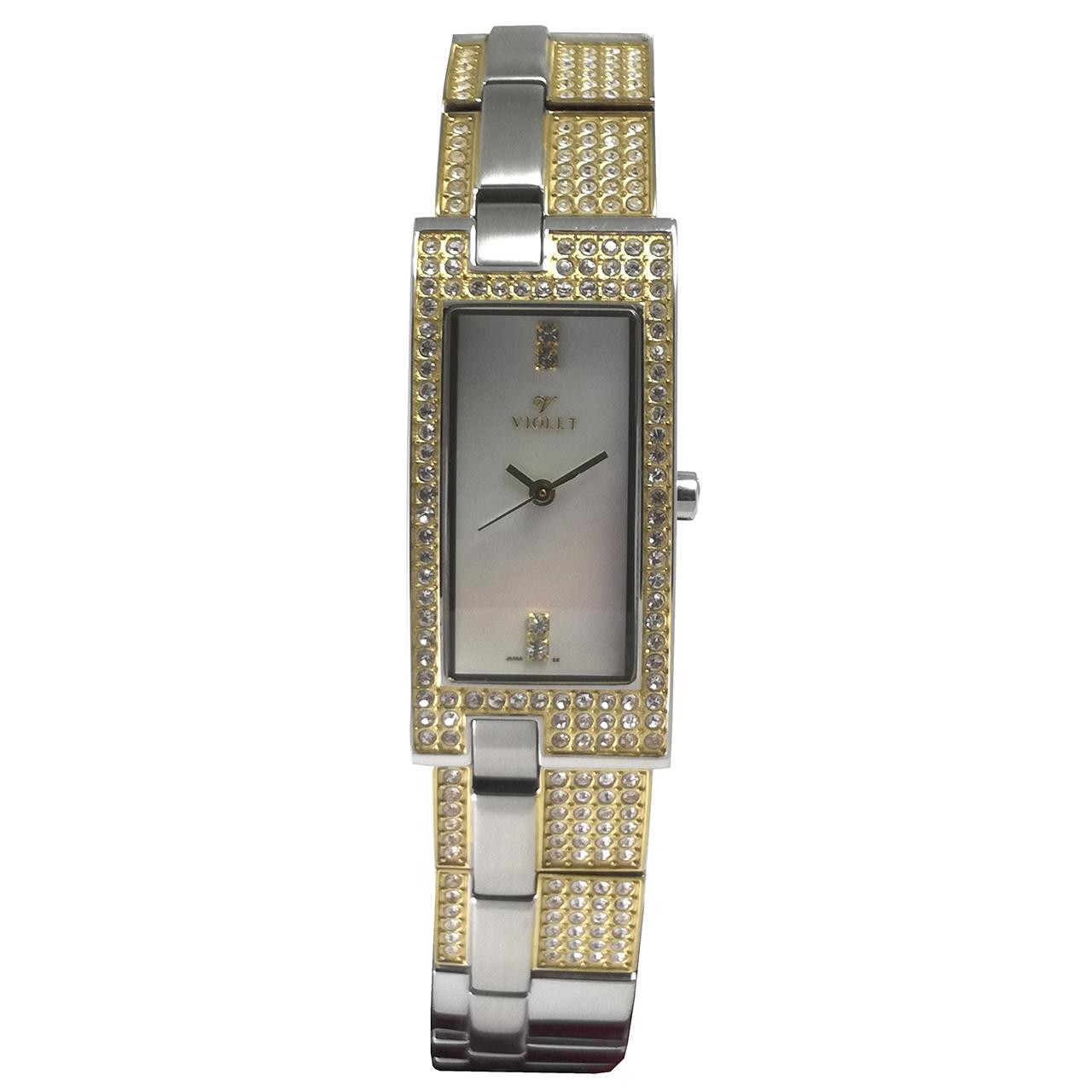 خرید ساعت مچی عقربه ای زنانه  ویولت مدل 0110L-2METAL