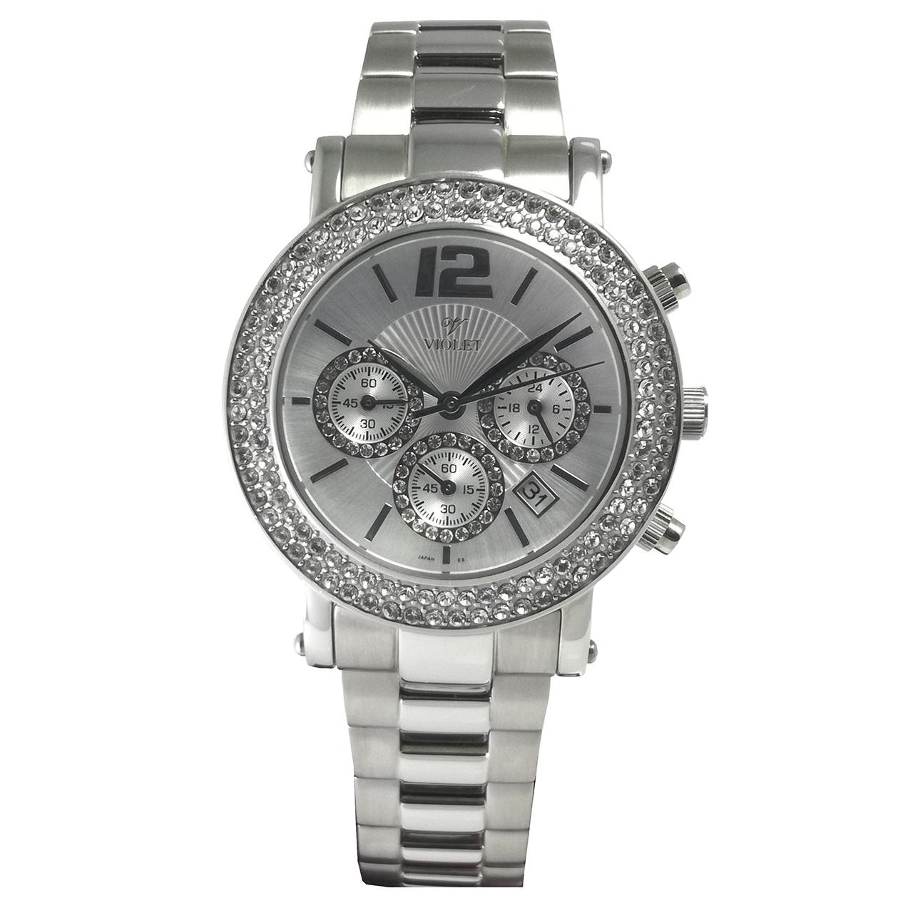 ساعت مچی عقربه ای زنانه  ویولت مدل 0225L-1METAL