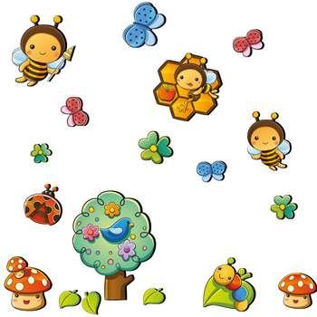 استیکر چوبی ژیوار طرح زنبورهای دوست داشتنی