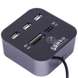 هاب USB 2.0 سه پورت و کارت خوان همه کاره ایکس پی-پروداکت مدل XP-HC836