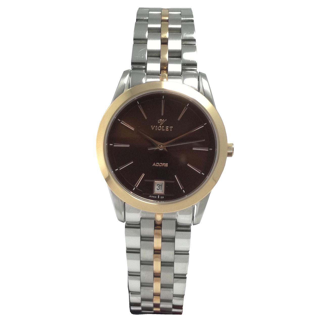 ساعت مچی عقربه ای زنانه  ویولت مدل B0456L-2METAL