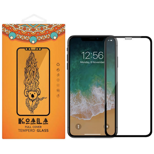 محافظ صفحه نمایش شیشه ای کوالا مدل Full Glue مناسب برای گوشی موبایل اپل آیفون XR