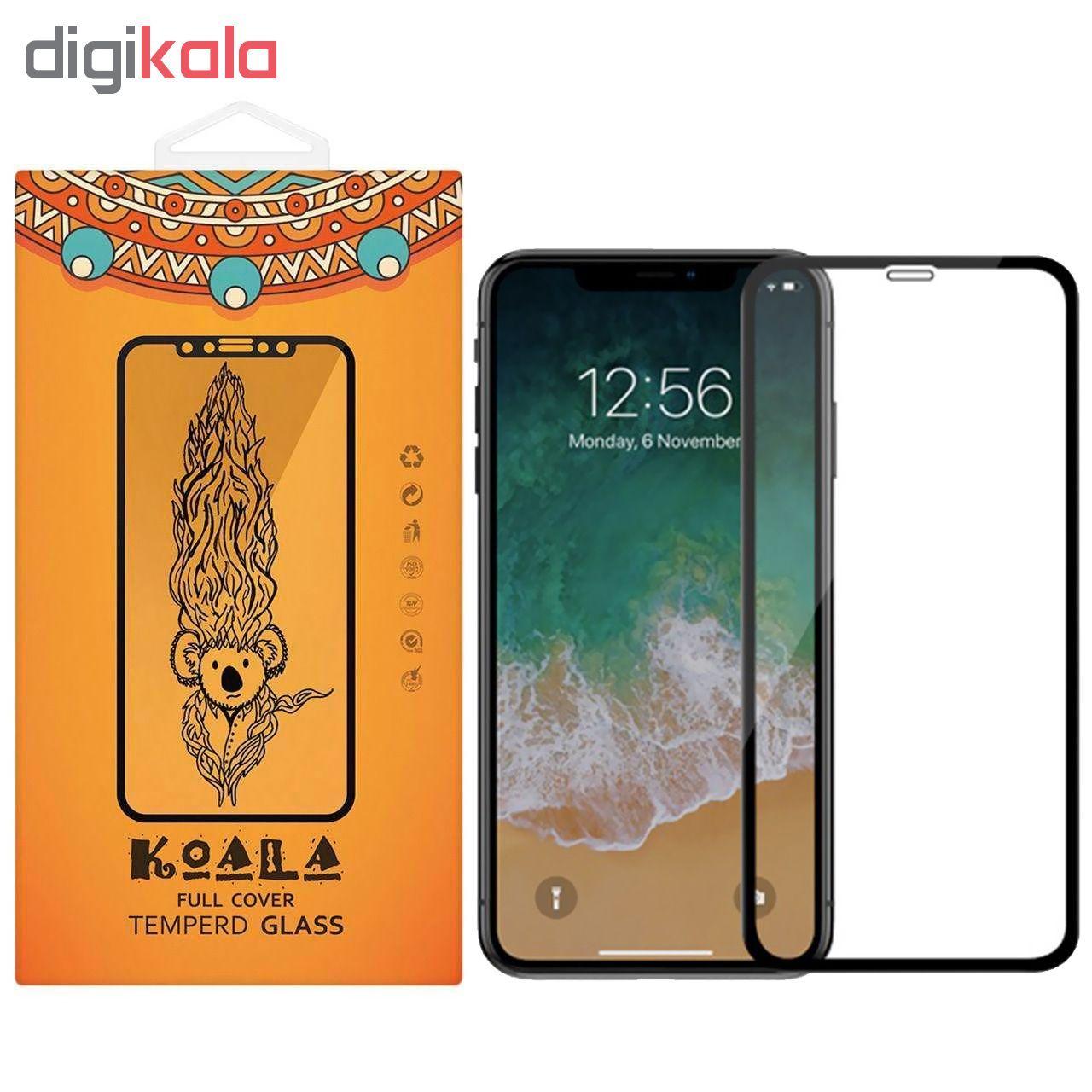 محافظ صفحه نمایش شیشه ای کوالا مدل Full Glue مناسب برای گوشی موبایل اپل آیفون XR main 1 1