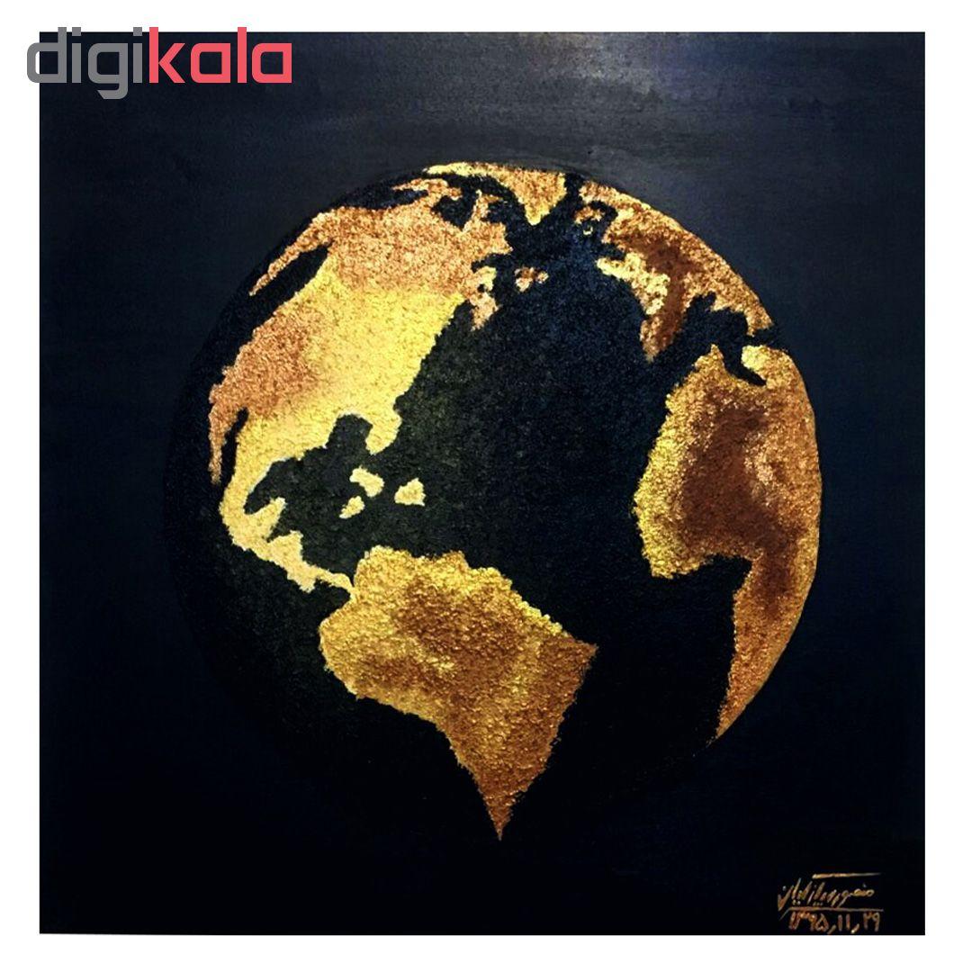 خرید                      تابلو نقاشی اکرلیک طرح کره زمین