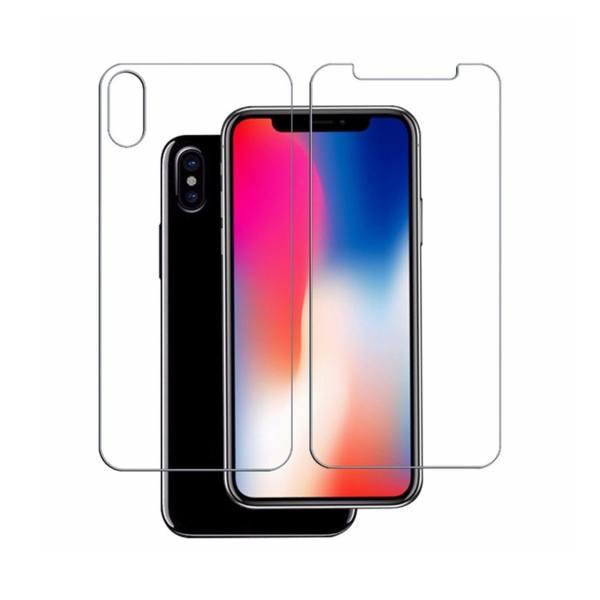 محافظ صفحه نمایش و پشت شیشه ای مدل 9H مناسب برای گوشی موبایل اپل iPhone x