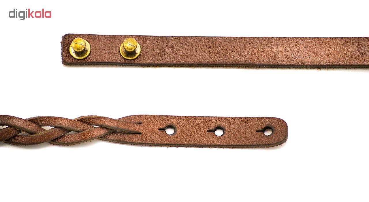 دستبند چرم طبیعی دستبافت مدل d2134 مجموعه 2 عددی (ONLY_ONE)