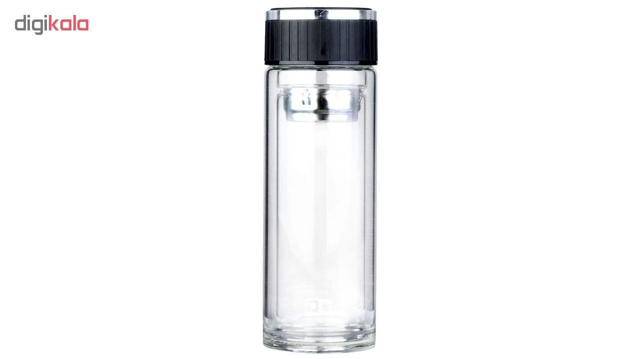 فلاسک دو جداره دمنوش ساز سی اس دی  مدل Glass cup ظرفیت 380 میلی لیتر main 1 1