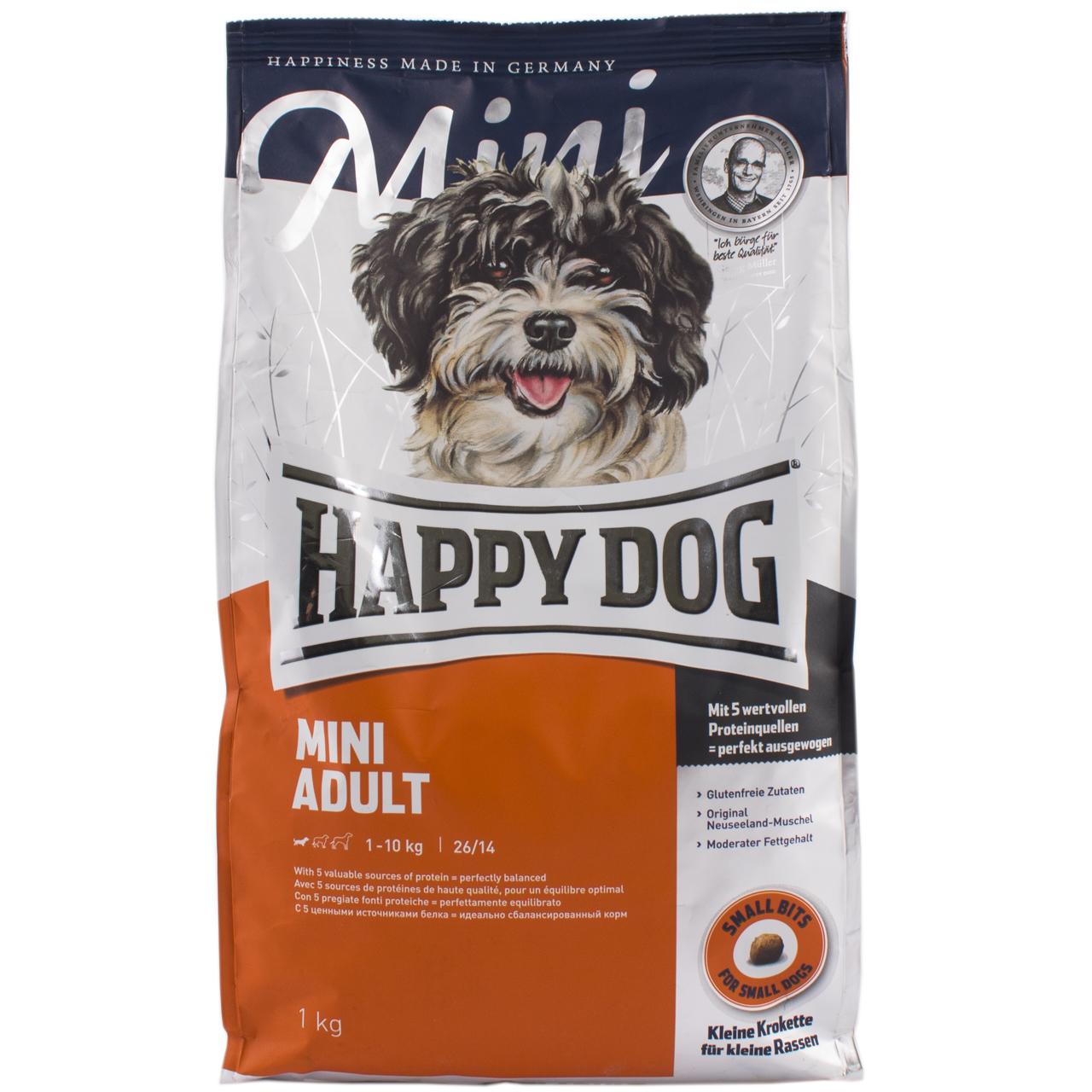 غذای خشک سگ هپی داگ مدل MINI ADULT