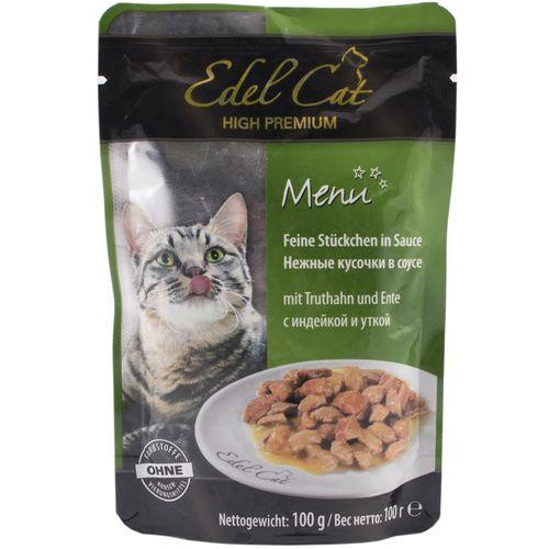 پوچ گربه ایدل کت حاوی گوشت بوقلمون و اردک وزن 100 گرم