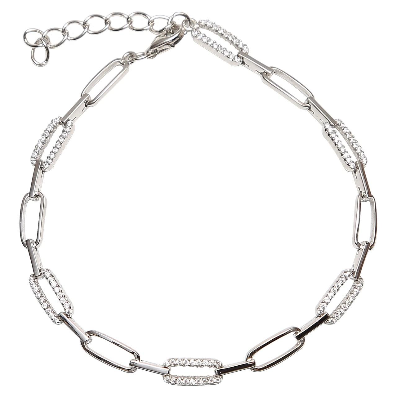 دستبند نقره شهر جواهر مدل SJ-SBC016