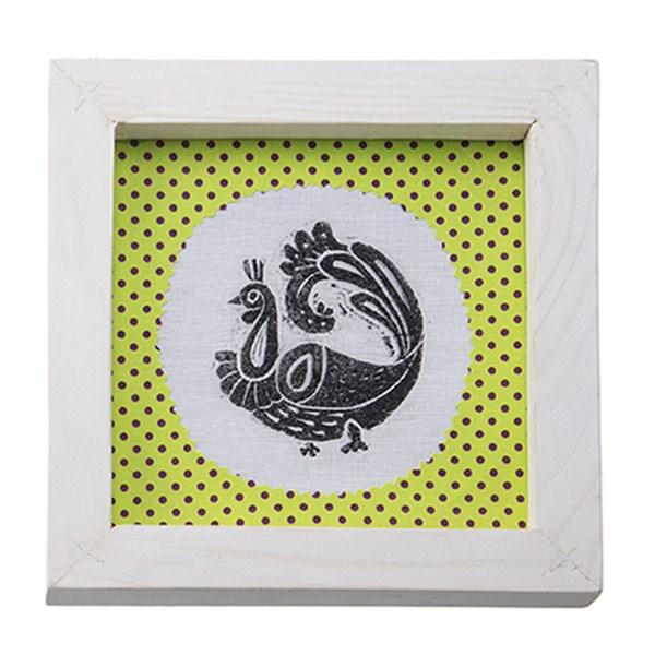 تابلو چوبی چاپ دستی روی پارچه گالری هور نقش 7