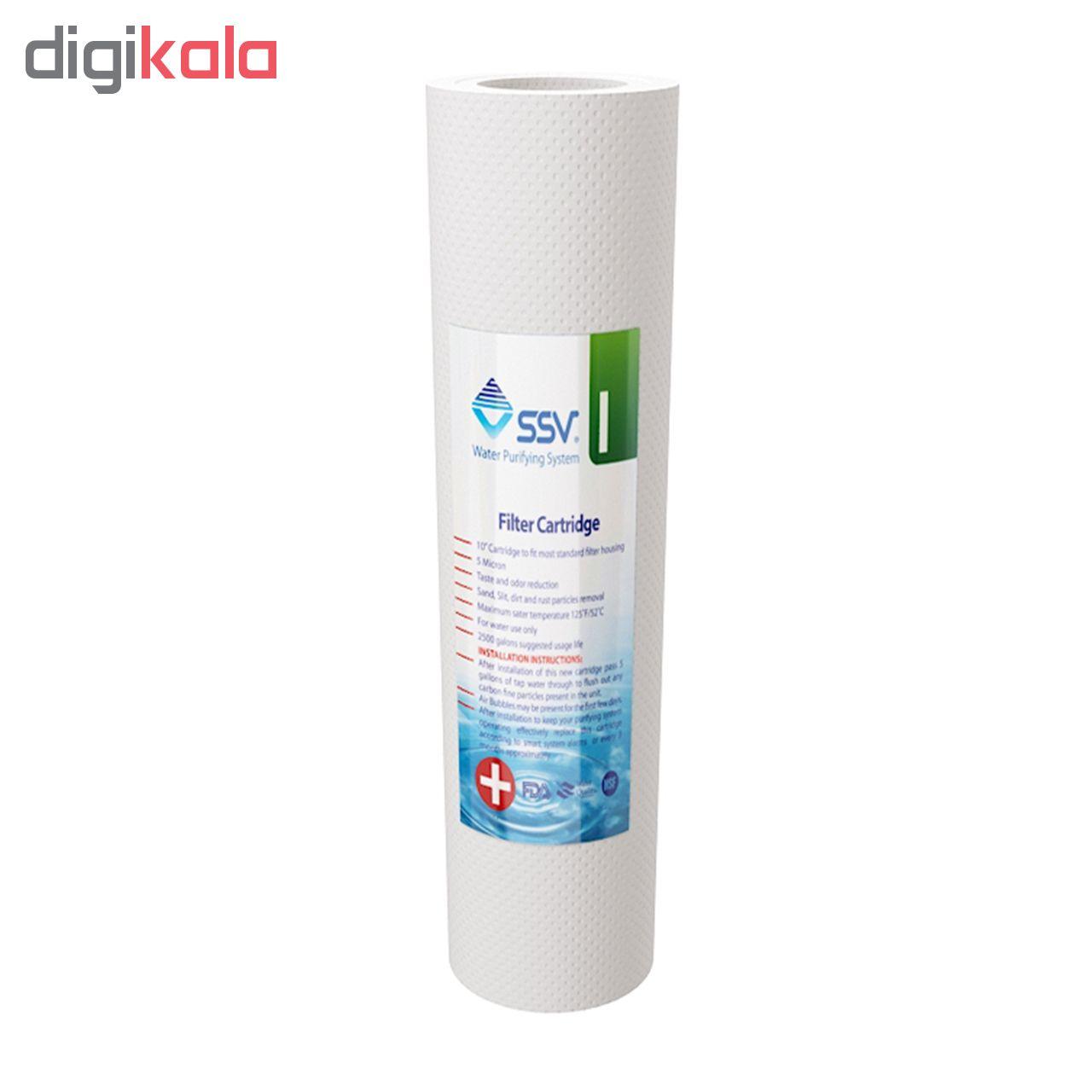 فیلتر  تصفیه آب خانگی  اس اس وی مدل Plus بسته 4 عددی