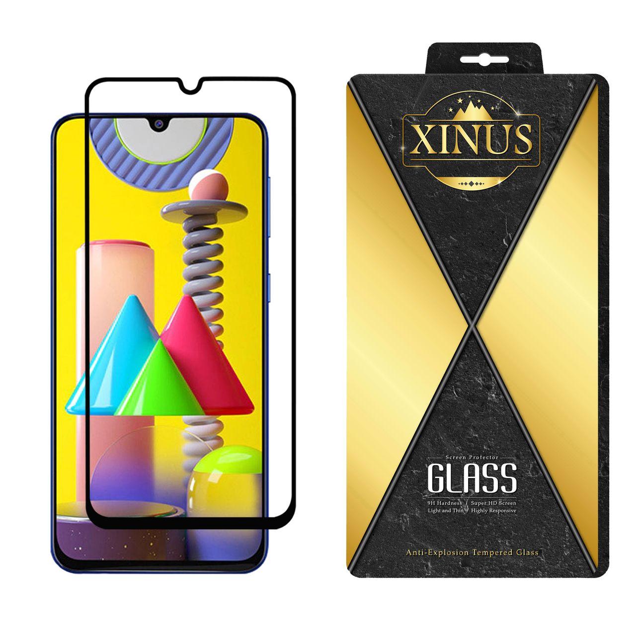 محافظ صفحه نمایش 5D ژینوس مدل FGX مناسب برای گوشی موبایل سامسونگ Galaxy M31 Prime