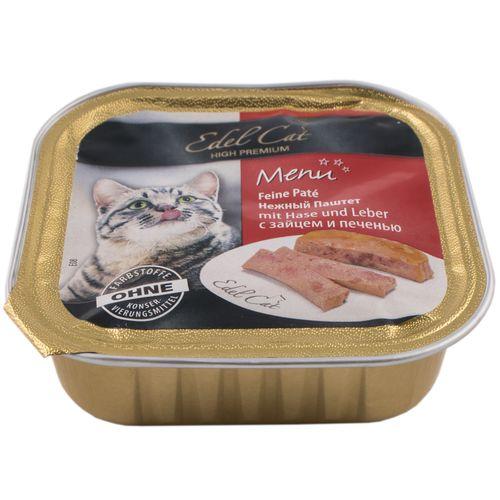 خوراک گربه ایدل کت مدل MENU حاوی گوشت خرگوش و جگر وزن 100 گرمی