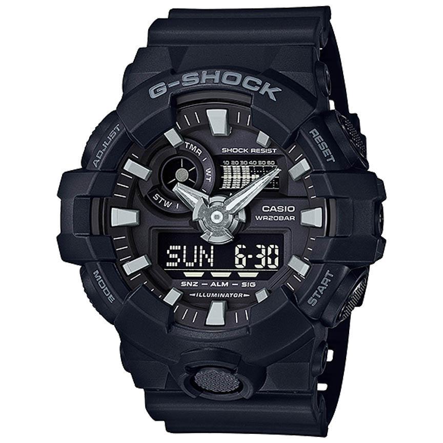 ساعت مچی عقربه ای مردانه کاسیو مدل جی شاک کد GA-700-1B              👙