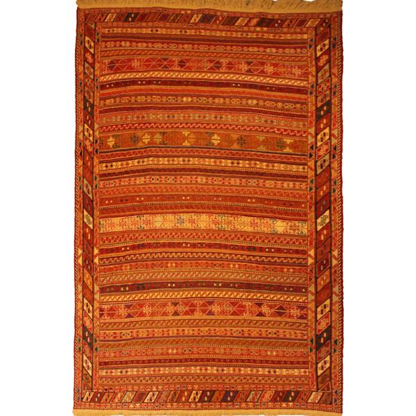 قالیچه گلیم دستبافت ورنی دو و نیم متری کد 107