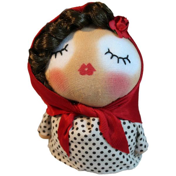 عروسک دست دوز گالری روهام مدل دختر خانم کد 907