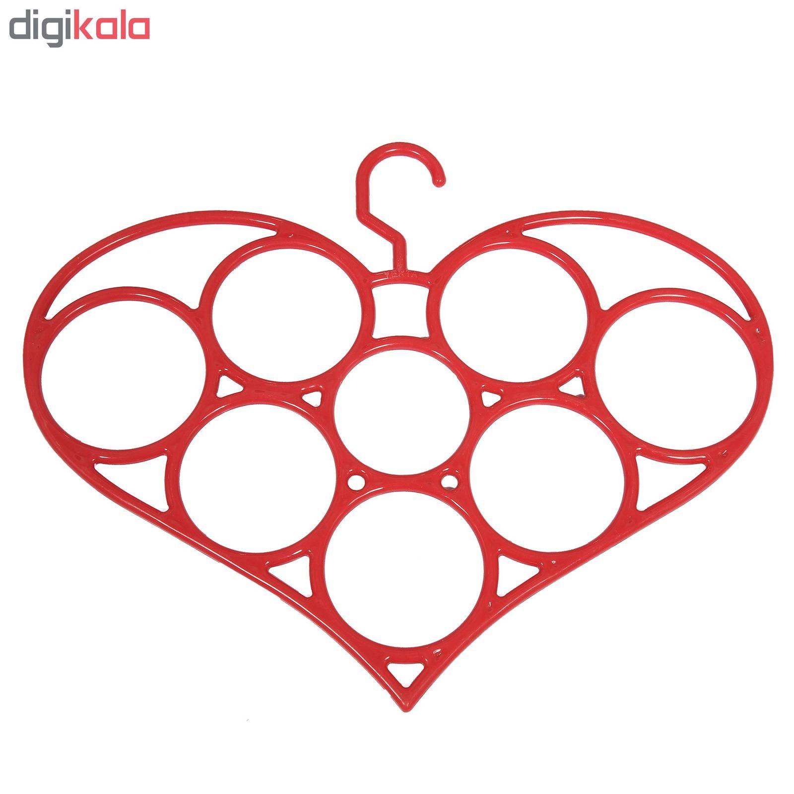 آویز شال و روسری طرح قلب مدل یکتا main 1 1