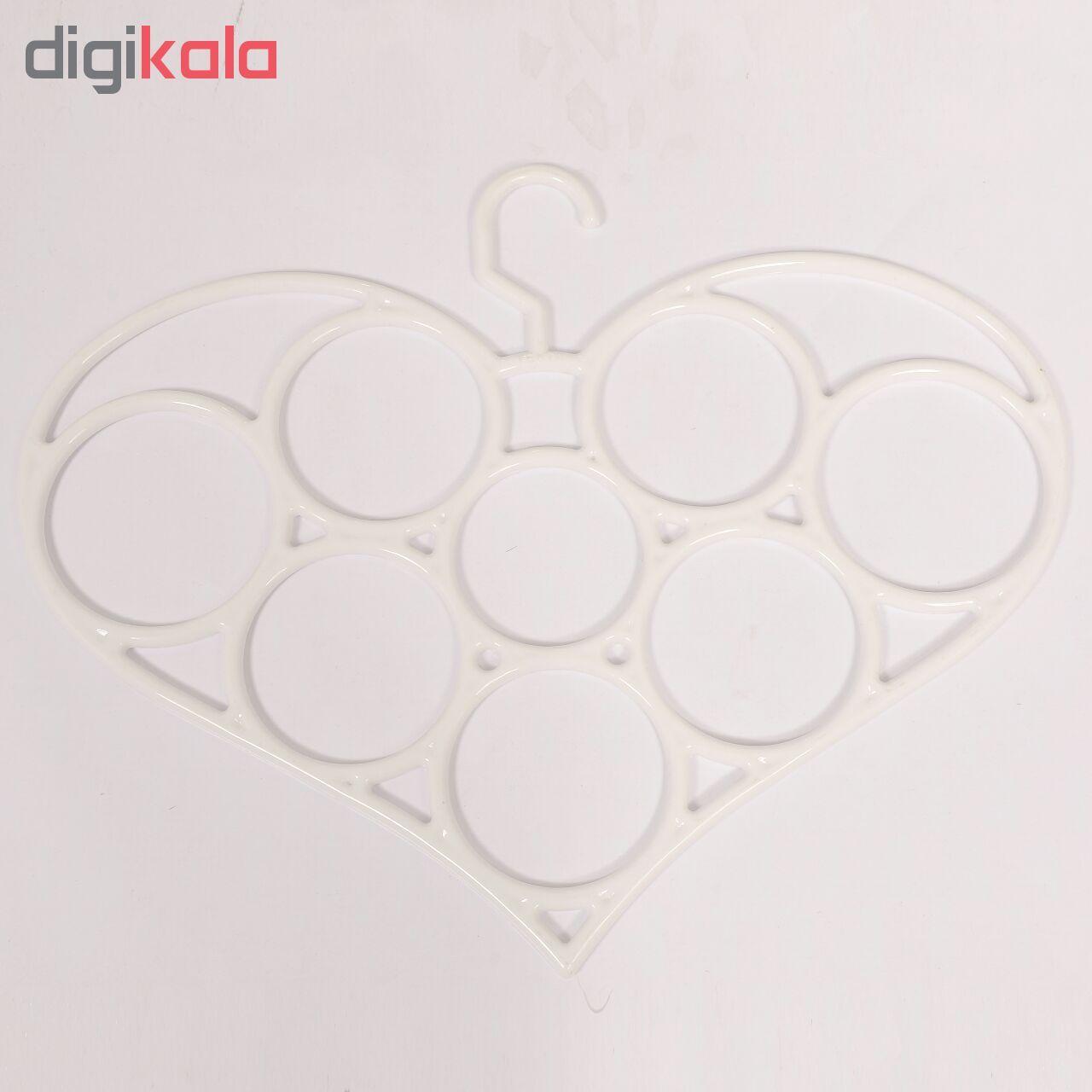 آویز شال و روسری طرح قلب مدل یکتا main 1 2