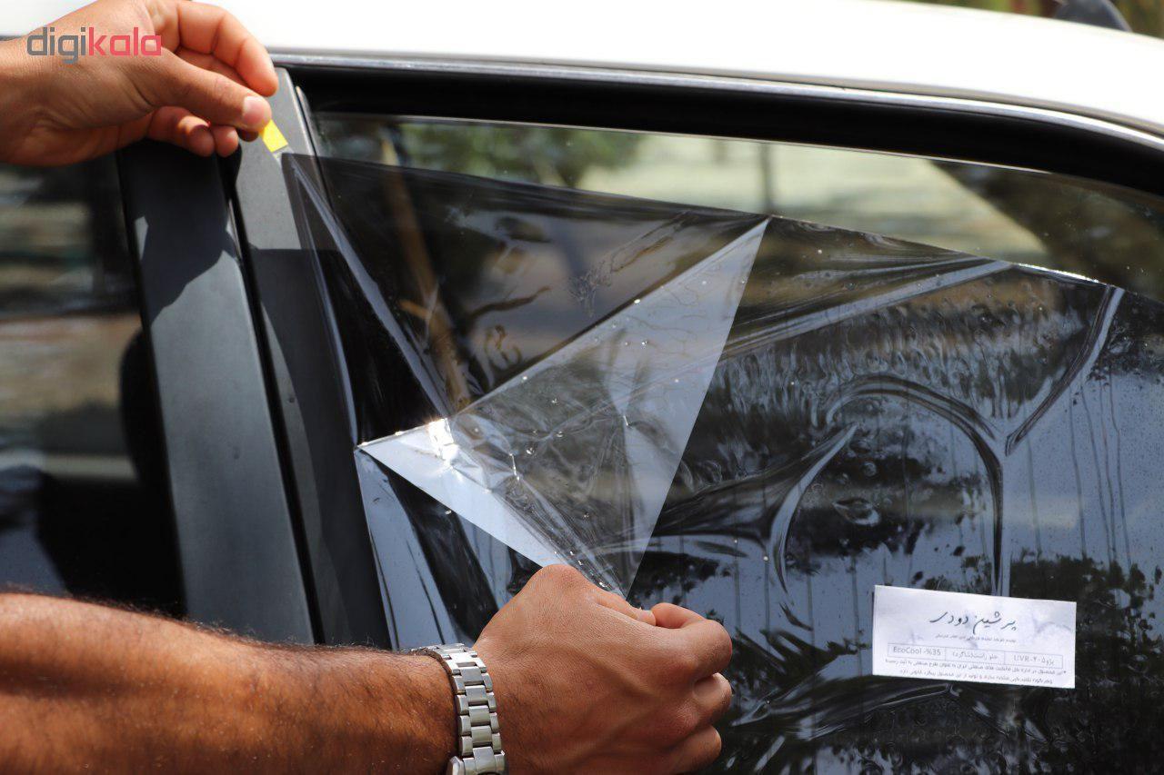 برچسب دودی شیشه خودرو مدل QUALITY USA مناسب برای خودروی پراید main 1 1