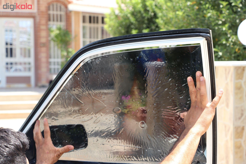 برچسب دودی شیشه خودرو مدل QUALITY USA مناسب برای خودروی پراید main 1 3