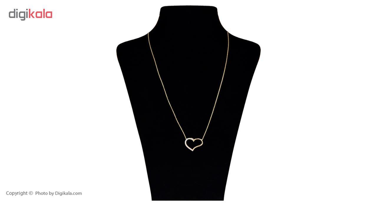 گردنبند طلا 18 عیار بهگلد طرح قلب